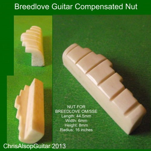 Bone Compensated Nut For Breedlove Guitar