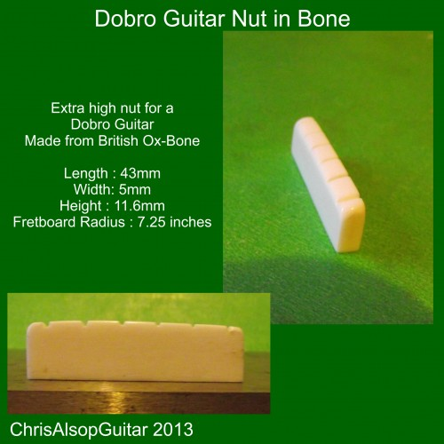 Dobro Guitar Bone Nut
