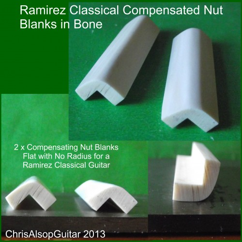Compensating Nut Blanks For Ramirez Classical Guitar
