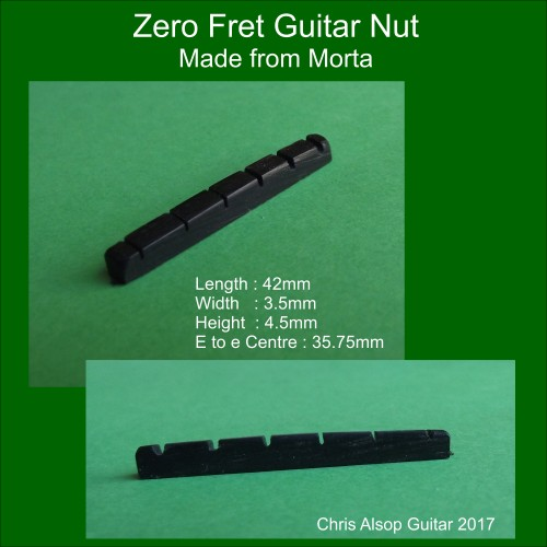 Zero Fret Nut for Telecaster in Morta Wood