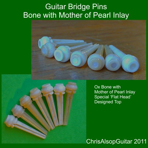 Flat Head Bone and MOP pins