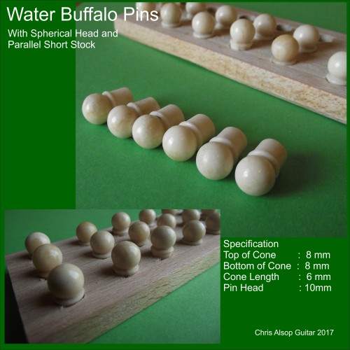 Parallel Buffalo Bone Pins with Short Stock