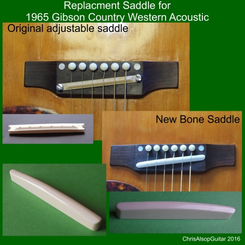 1965 Gibson Acoustic Saddle Replacement in Bone