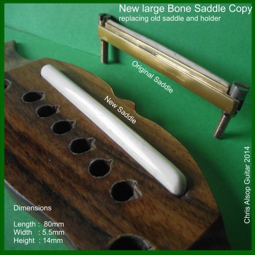 Extra Large Saddle Copy in Bone