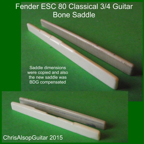 Fender ESC 80 3/4 Guitar - Saddle Copy with modification