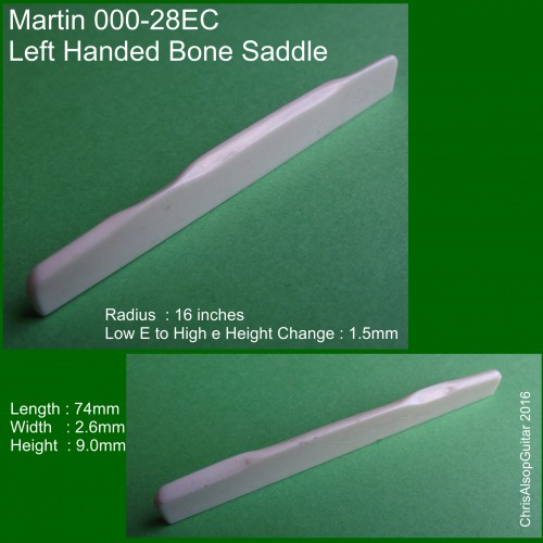 Left Handed Saddle Martin 000-28EC