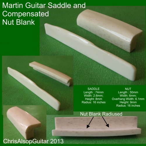 Martin Saddle and Compensated Nut Blank