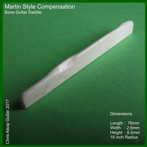 Martin Style Guitar Bone Saddle