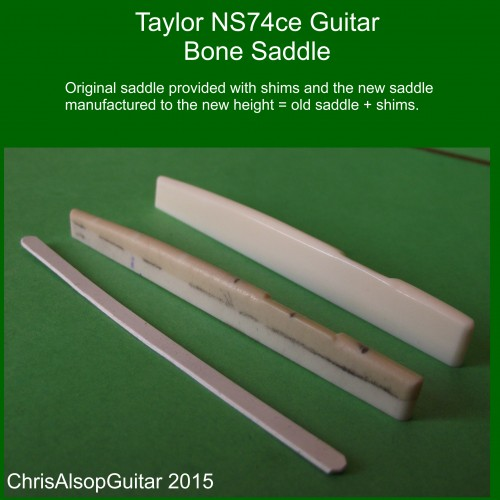 Taylor NS74ce Bone Saddle Copy