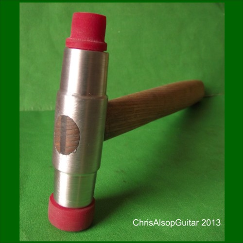 Chris Alsop Guitar Fretting Hammer with 3 Polyurethane Rubber Faces
