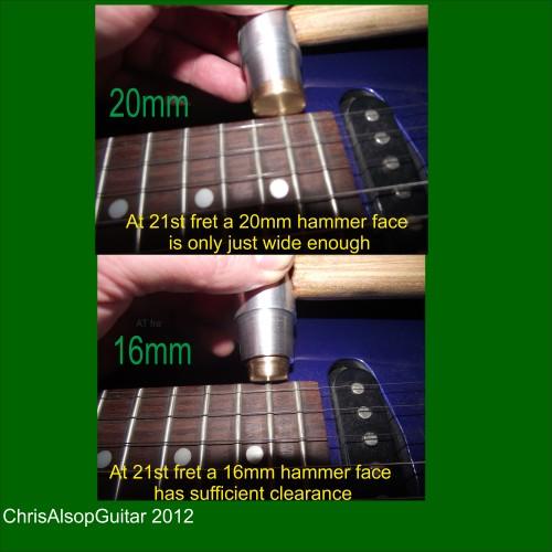 Chris Alsop Guitar Fretting Hammer