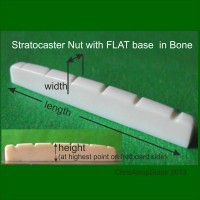 Stratocaster Bone Guitar Nut Flat Base