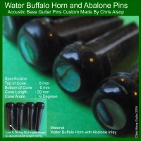 Custom Made Acoustic Bass Guitar Pins