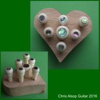 Bridge and End Pins in Holder Bone or Wood