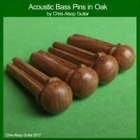 Acoustic Bass Guitar Pins in Oak