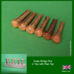 Yew All Wood Guitar Bridge Pins. 5.7mm