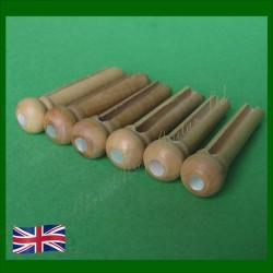 English Boxwood with MoP Inlay Guitar Bridge Pins. 5.7mm