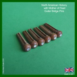 Hickory with MoP Inlay Bridge Pins. 5.5mm
