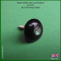 Black Buffalo Horn End Pin / Strap Button Pin