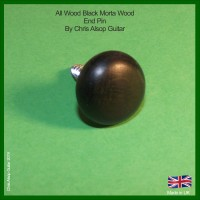 Black Morta Wood End Pin / Strap Button Pin