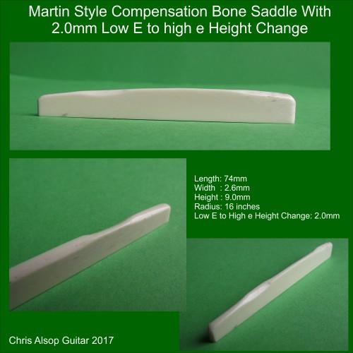 Martin Style Bone Saddle
