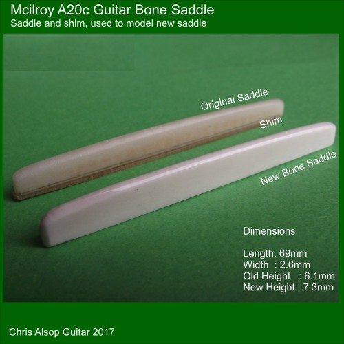 Mcilroy A20c Bone Guitar Saddle