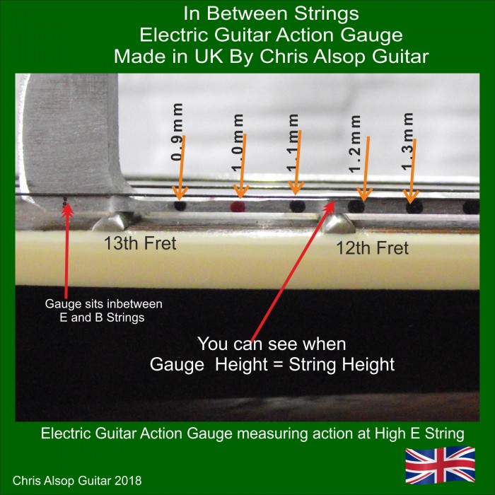 electric guitar string action gauge. Black Bedroom Furniture Sets. Home Design Ideas