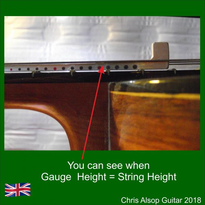 classical guitar string action gauge. Black Bedroom Furniture Sets. Home Design Ideas