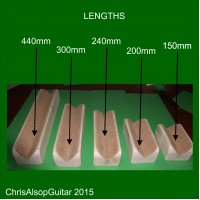 Guitar Neck Rest. Lengths 75mm to 440mm Available