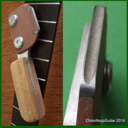 Diamond Fret Crowning File With Beech Handle. 2mm or 2.5mm or 3mm file