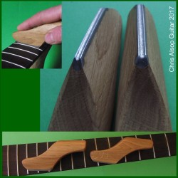 TWO Diamond Fret Crowning Files with Oak Handle