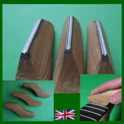 THREE Diamond Fret Crowning Tools with Oak Handle